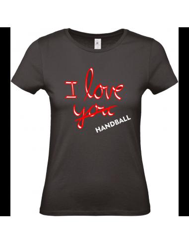 I LOVE YOU (HANDBALL) T-SHIRT DAMES